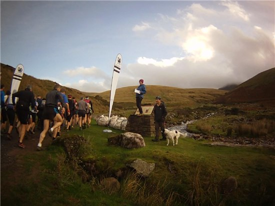 Llyn y Fan Race start 2014