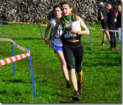 Naomi and Louise finishing leg 3